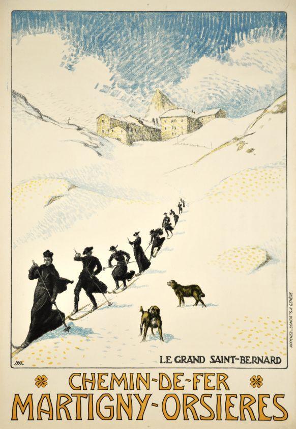 Martigny- Orsières, Chemin de Fer by Muret Albert / 1910