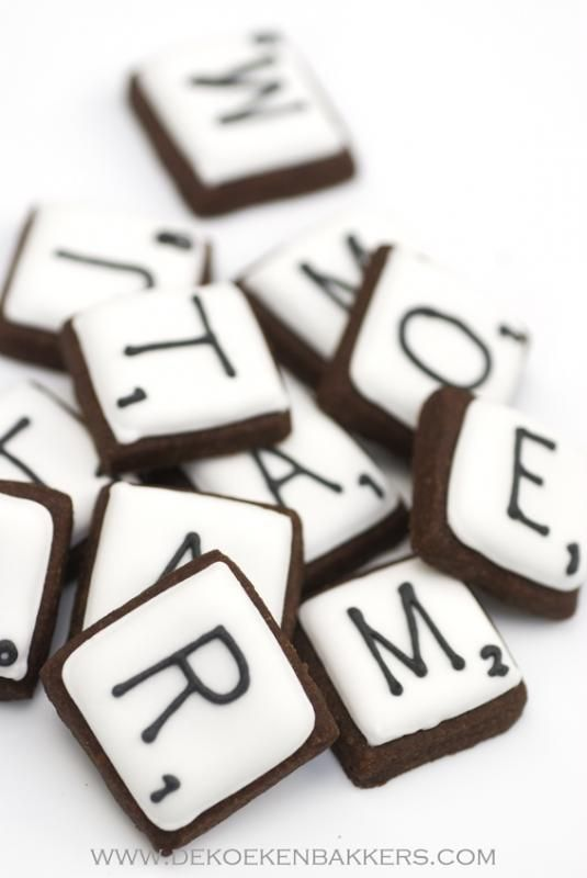 ●Scrabble cookies - need to find a reason to make these. Game night at my place…
