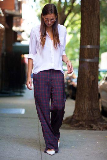 пижамные штаны бельевой стиль