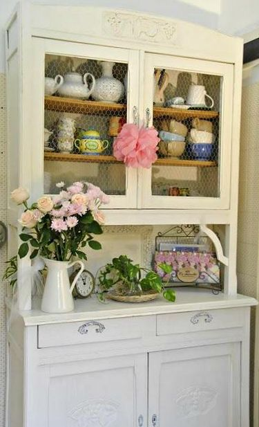 17 Best Ideas About Hutch Display On Pinterest Dish Display Antique Hutch And China Display