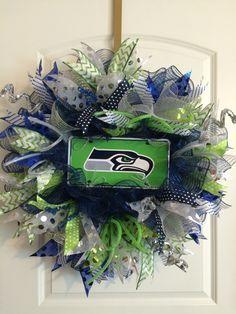 Seattle Seahawks Wreath Seahawks Wreath By