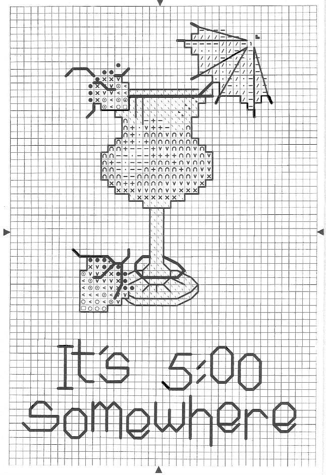 Cocktails cross stitch