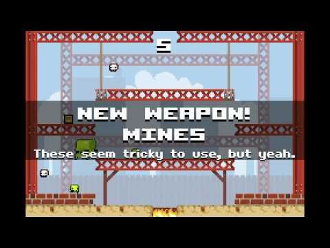 Super Crate Box - gameplay - Super Crate Box is a multi-platform, freeware, score-based, arcade MMO Game made by indie development studio Vlambeer