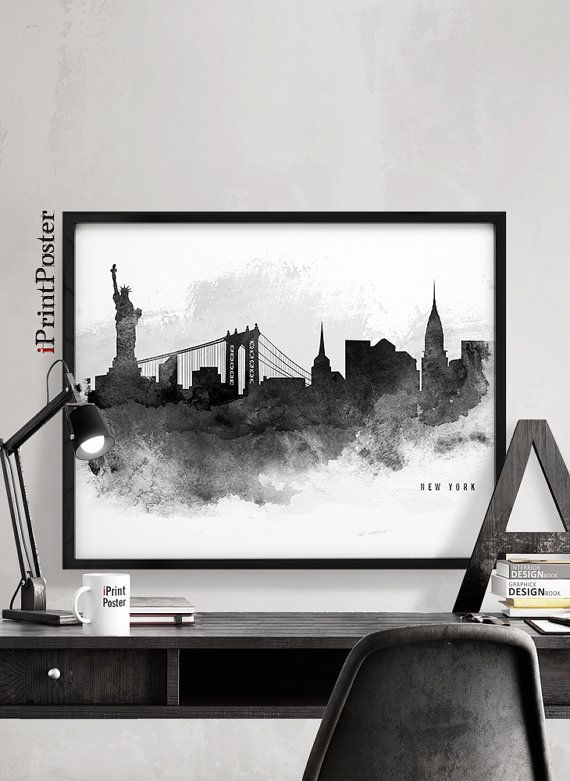 New York city poster New York city print New York city art