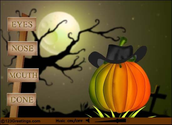 Create Your Own Halloween Pumpkin! Free Online Make Your Halloween Pumpkin  Ecards On Halloween