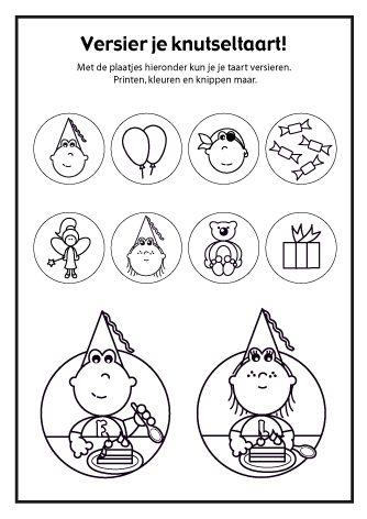 <h1>Versier je Frokkie en Lola knutseltaart deel 2</h1>De taart versieren kan met deze plaatjes van Frokkie en Lola.