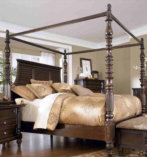 white canopy bedroom sets home gallery furniture key town queen bed ashley