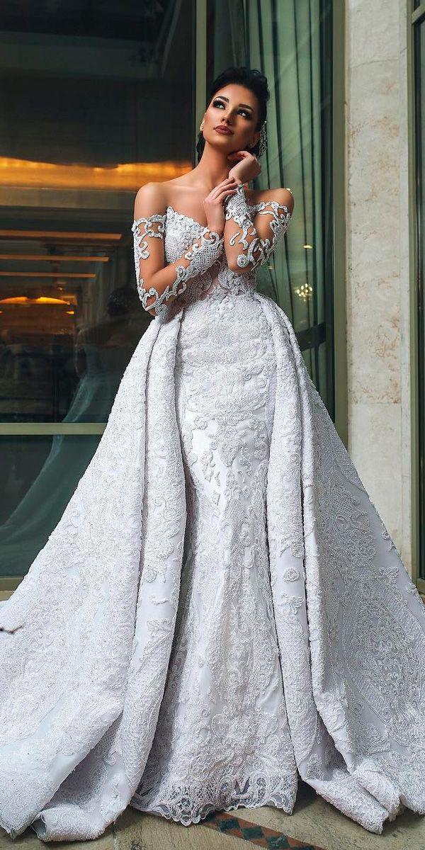 36 Chic Long Sleeve Wedding Dresses ❤ long sleeve wedding dresses modern sheat…