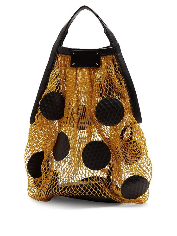 Polka-dot fishnet shoulder bag | Maison Margiela | MATCHESFASHION.COM – #bag #fi…