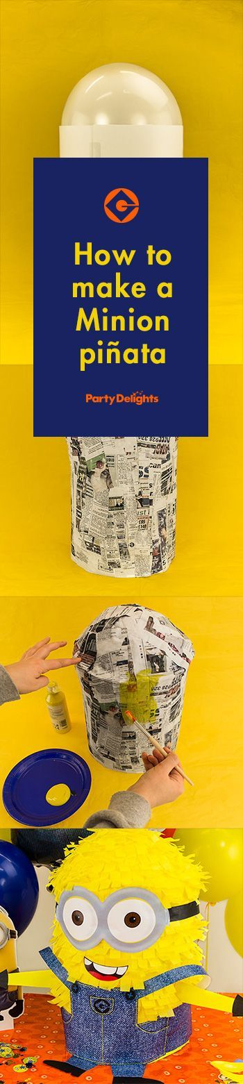 How to make a minion piñata - minion piñata DIY tutorial