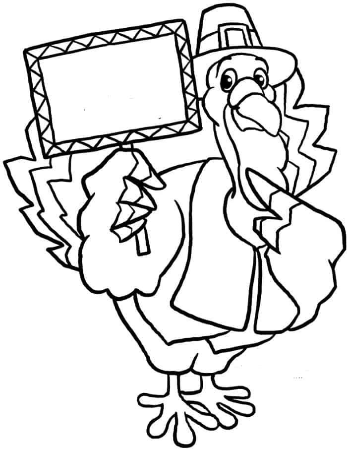 Turkey And Pilgrim Coloring Pages In 2020 Thanksgiving Coloring Pages Coloring Pages Turkey Coloring Pages