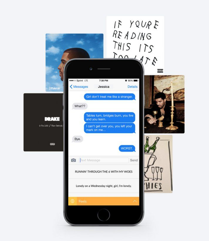 Pin for Later: This Hilarious Drake App Will Put You on Your Worst Behavior  The app includes quotes from all of Drake's albums, so you can go from zero to 100 real quick.