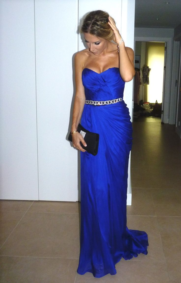 Amazing Royal Blue Ruched Sweetheart Stunning Crystals ... - photo#8
