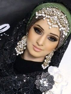 Beaded and sequined Hijab