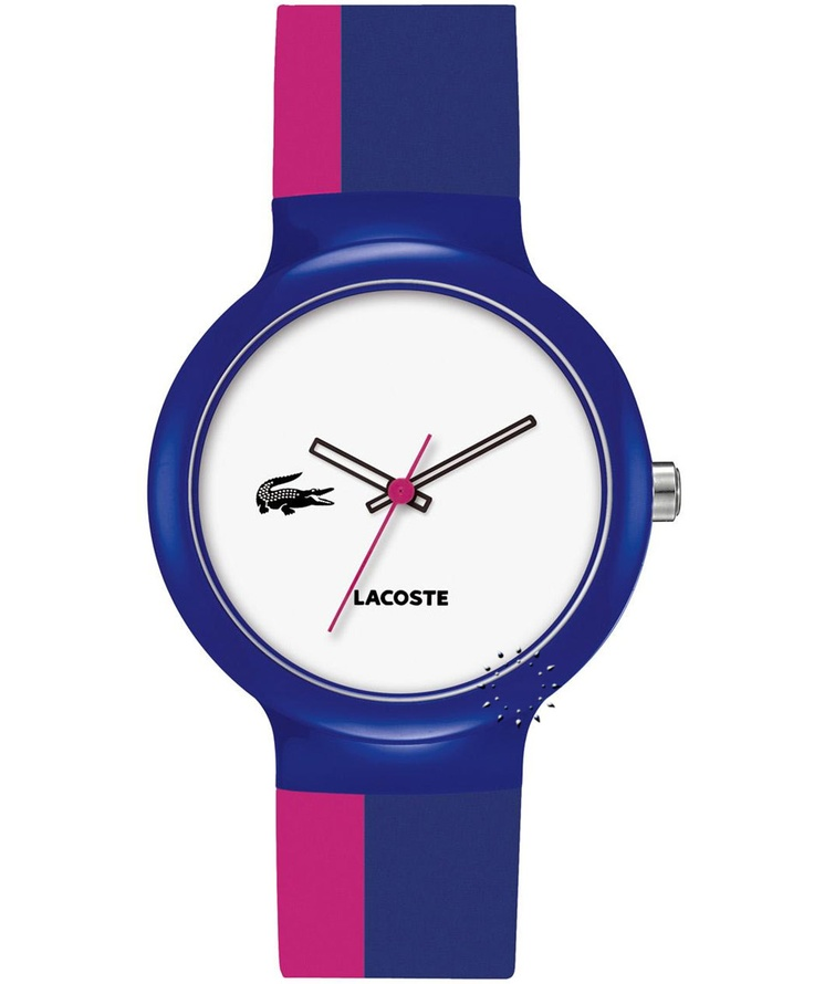 LACOSTE GOA Blue and Fuchsia Rubber Strap Μοντέλο: 2020041 Η τιμή μας: 65€ http://www.oroloi.gr/product_info.php?products_id=33440