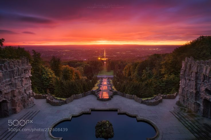 Glowing sunrise over Kassel by alex_lauterbach