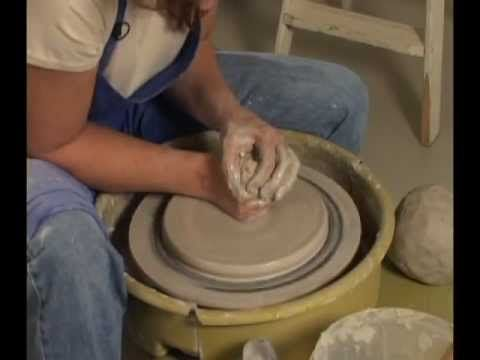 Danielle ~ The Clay Lady - Throwing a Plate on the Pottery Wheel... I usually hate throwing or watching people throw plates but I love this!