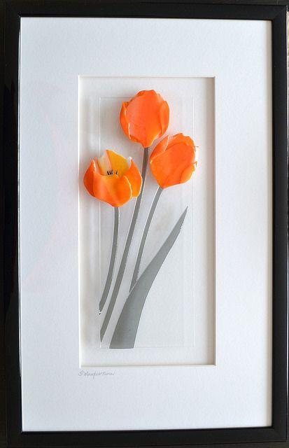 Tulipanes naranjas cuadro