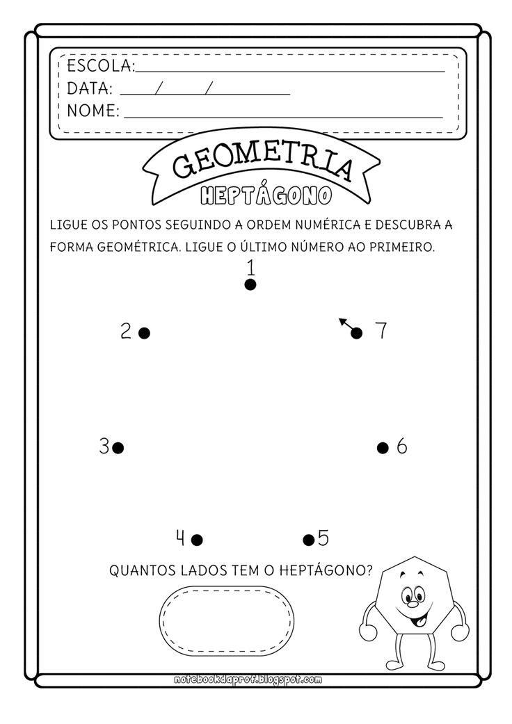 Notebook da Profª: Ligue pontos Formas Geométricas - Polígonos