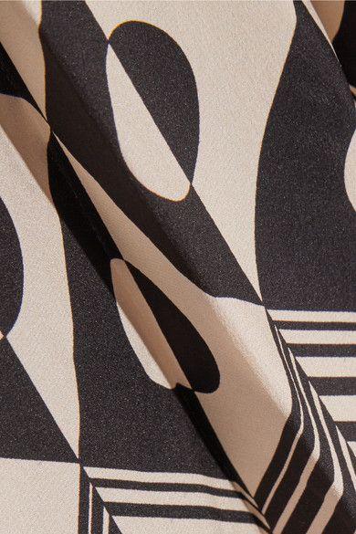 Gucci - Pleated Printed Silk Crepe De Chine Midi Skirt - Black - IT48