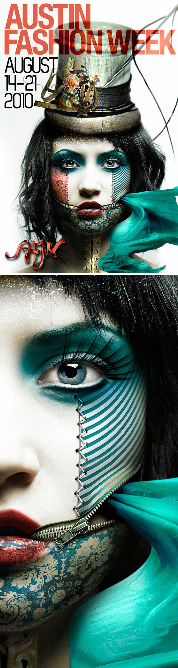 Poster design for Austin Fashion Week 2010 - Gary Dorsey {surreal photo manipulation retouching}