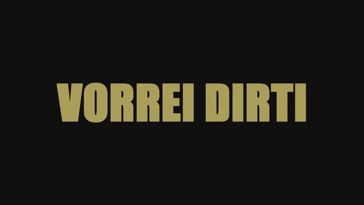 Packy Thunder - Vorrei Dirti (Official Lyric Video)