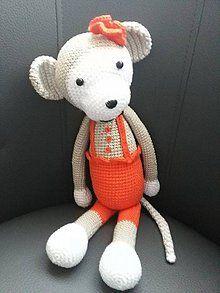 Hračky - Opička v oranžovom šate - 5298383_
