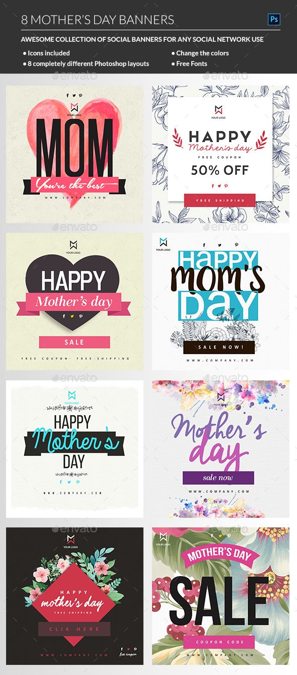 Mothers Day Banner Template PSD. Download here: http://graphicriver.net/item/mothers-day-banner/15800527?ref=ksioks