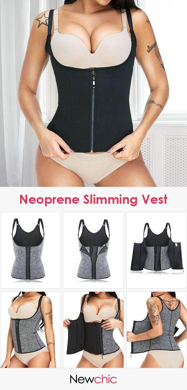 b9ef3dc3ae Neoprene Fitness Slimming Vest Tummy Control Shaper Steel Bones Push Busty  Shapewear  shapewear  busty  bodysuit  tummy  control