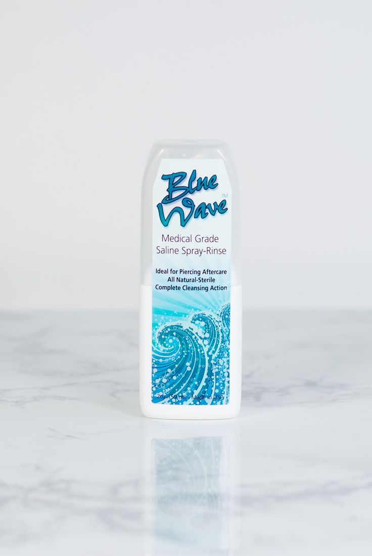Shop Blue Wave™ Medical Grade Cleansing Solution This all-natural sterile solution accelerates the healing process while cleansing new piercings.