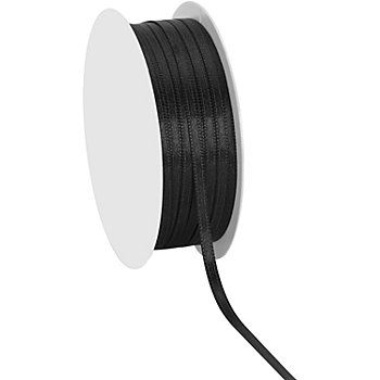 Ruban satin, noir,largeur : 3 mm, composition : 100 % polyester, rouleau de 20 m.Attention : les rubans ne sont pas disponibles au mètre ! Il s´agit ici d´un rouleau de ruban de20 m !