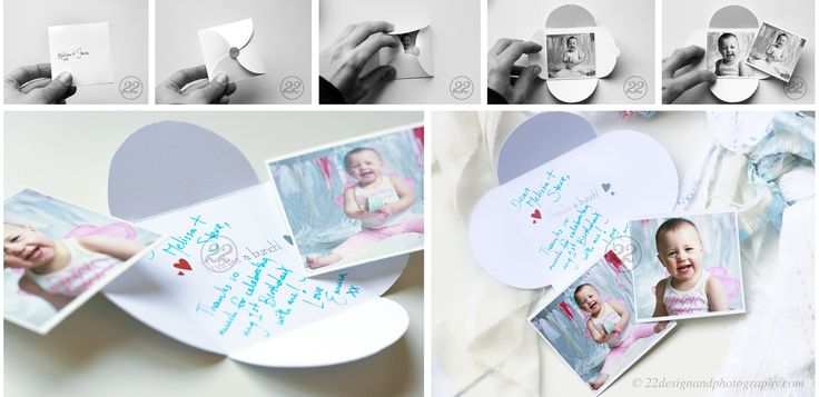 A beautiful rustic, shabby chic 'Sky' party theme 'thank you card' design for a 1st birthday party