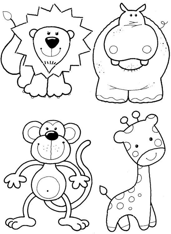 Раскраска звери для детей   Детские раскраски, распечатать, скачать