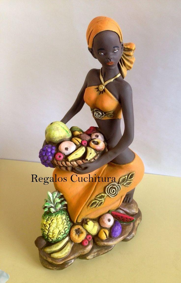 Figuras Esculturas Negras Africanas En Yeso Para Decoración - Bs. 7.700,00 en MercadoLibre