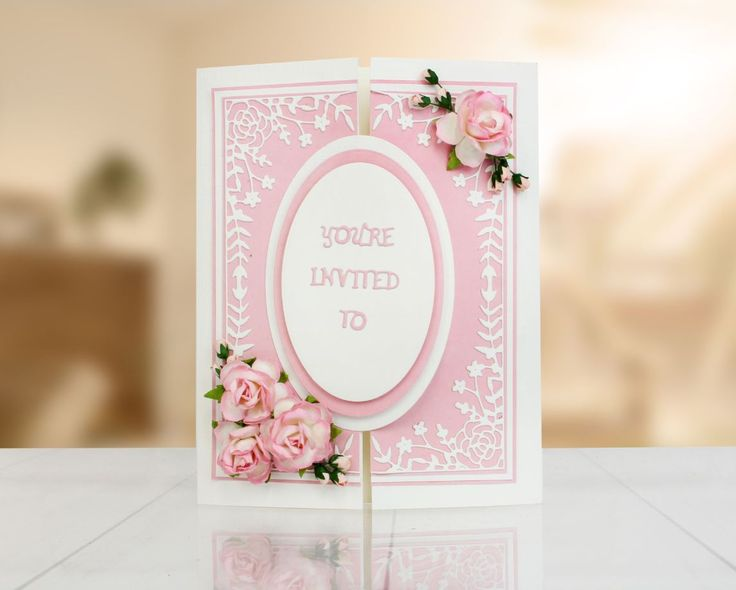 Gorgeous homemade wedding invitation made using the @tatteredlaceuk Great Gatsby Frame and Word Dies! / wedding planner / handmade weddings / crraft