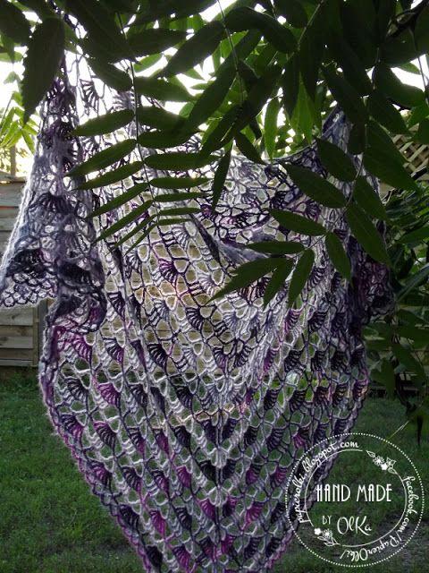 Crochet shawl. Szydełkowa chusta.