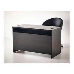 BESTÅ Desk - black-brown - IKEA