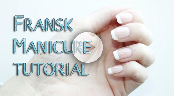 Fransk manicure tutorial på #dansk #negle