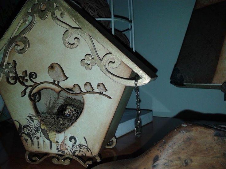 caja decorativa técnica scrapp
