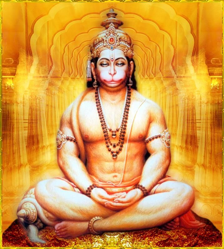 Hanuman - fun loving, has supreme strength, unflinching devotion and the destroyer of evil. Now that's a deadly combination!