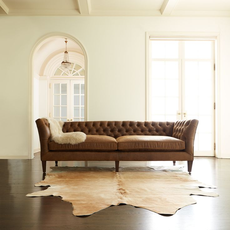 A vintage frame with a modern feel. This versatile sofa features a tufted inside back that will hold its shape over time.