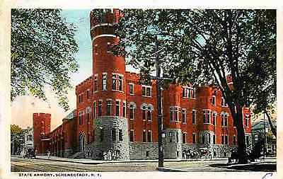 Schenectady New York NY 1913 New York State Armory Antique Vintage Postcard