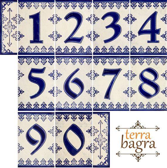 M s de 25 ideas incre bles sobre cer mica hecha a mano en for Azulejo numero casa