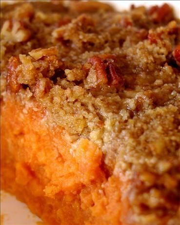 Streuseled Sweet Potato Casserole from Food.com: This is very good, not too sweet; a nice alternative to the marshmallow topped version. I got the recipe from Cooking Light Magazine and it is one I will be fixing for this Thanksgiving.