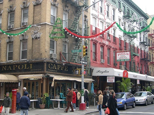 Mulberry Street is the very heart of New York's Little Italy
