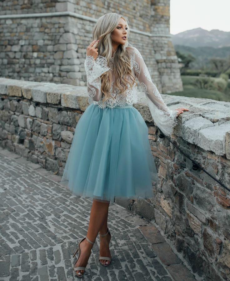 "Dusty blue ""Juliet"" tulle skirt by Bliss Tulle"