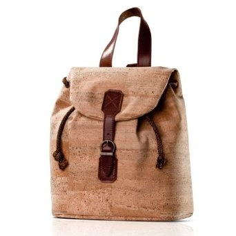 Cork backpack! Goes with most of my stuff, and it's on sale. #eco #sustainable #backpack #backpackpurse #greenfashion