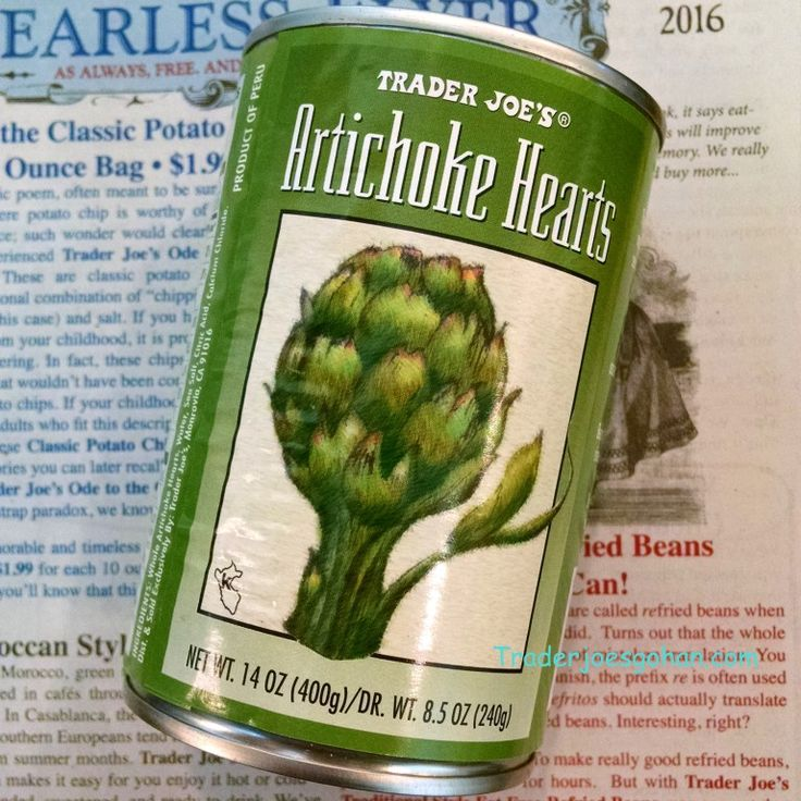 Trader Joe's Artichoke Hearts 14oz/400g (DR.WT. 8.5oz/240g) $2.69 トレーダジョーズ アーティチョークの缶詰