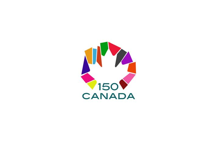 Canada 150th anniversary logo suggestion #colorful