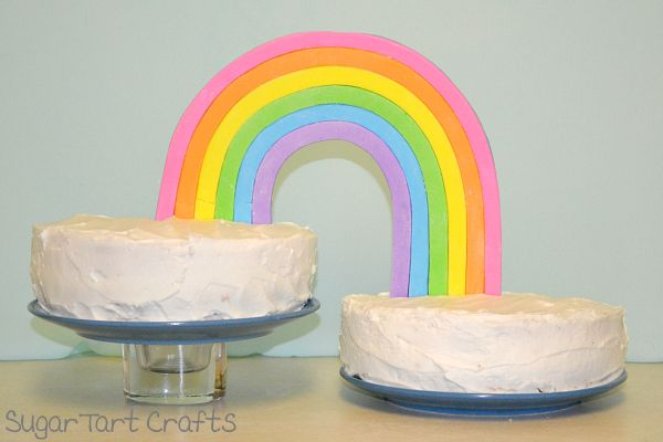 How to make a rainbow cake decoration from marshmallow fondant. My Little Pony party?